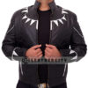 black panther leather jacket – open front