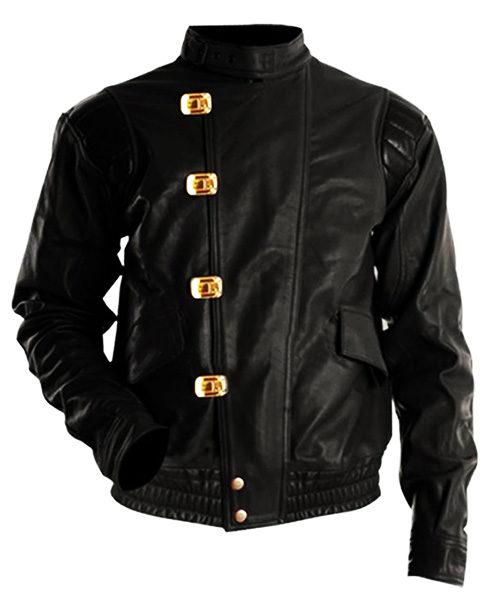 Akira Capsule Black Leather Jacket front