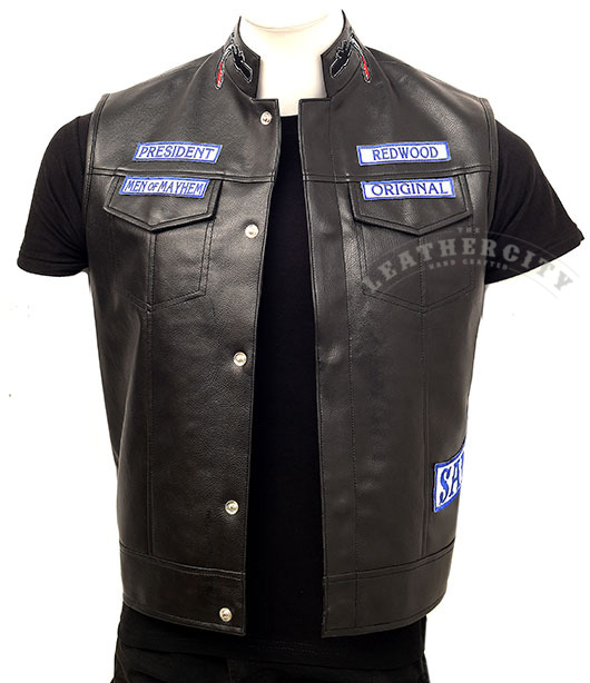 Sao Vest Sons Of Anarchy Charlie Hunnam Biker Vest Theleathercity