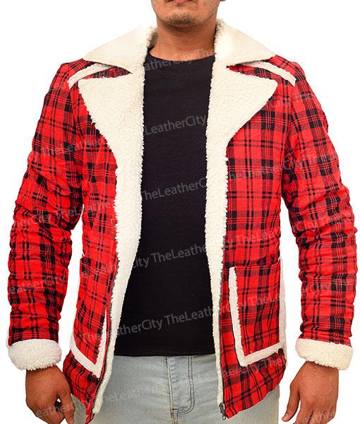 Deadpool Red Shearling Jacket