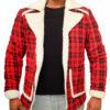 Deadpool Ryan Reynolds Red Jacket front open