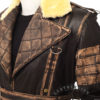 Elder Maxson Leather Jacket Coat closure