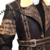 Elder Maxson Leather Jacket Coat closure 4