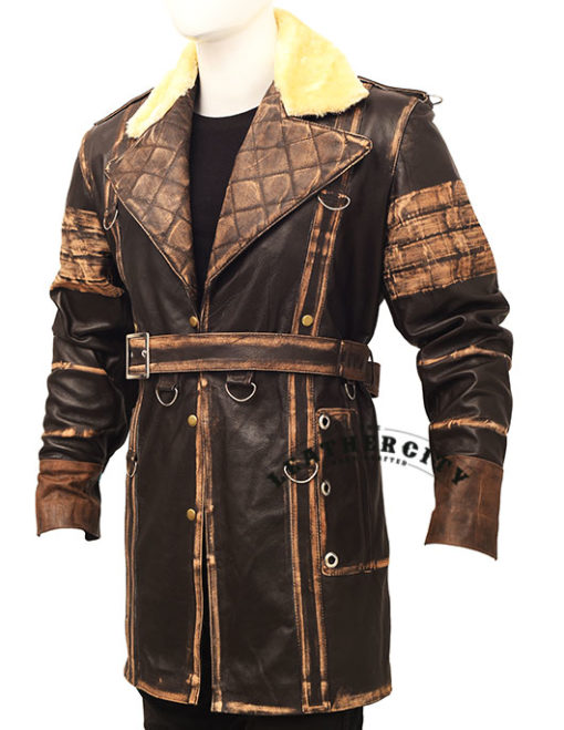 Elder Maxson Leather Jacket Coat left