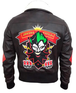 Harley Quinn Bombshell Bomber Leather Jacket