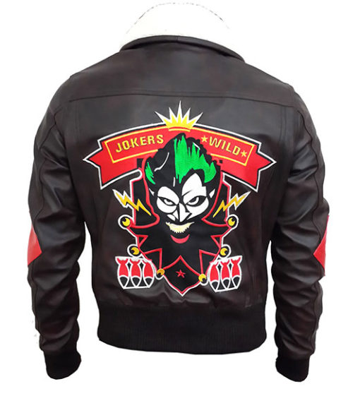 Harley Quinn Suicide Squad Bombshell Faux Leather Jacket Halloween Design back