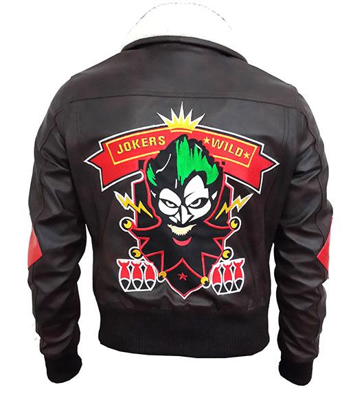 Harley Quinn Bombshell Bomber Leather Jacket