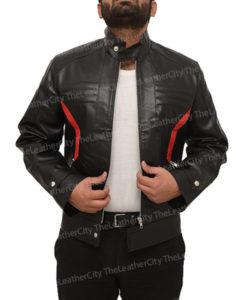 Soldier 76 Leather Jacket Black