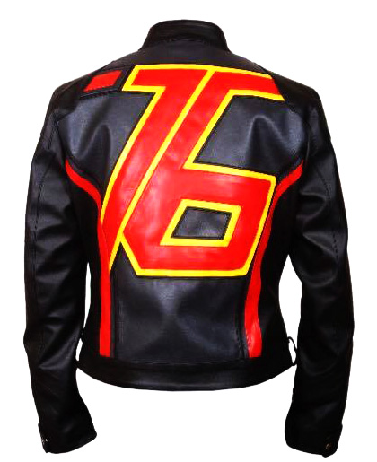 Soldier 76 black jacket back