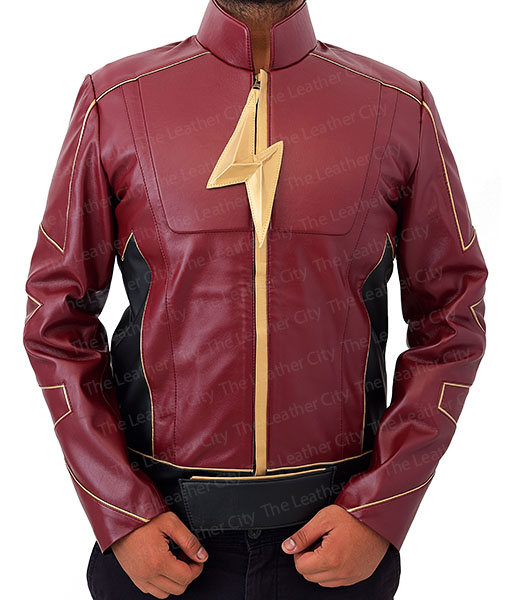 The Flash Season 2 Jay Garrick Leather Jacket Front