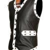 Warriors Leather Vest New Design Embroidery right