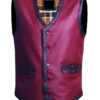 Warriors Leather Vest New Design front