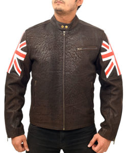 Vintage Cafe Racer Motorcycle Leather Jacket