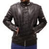 Daft Punk Electroma Hero Robot Rivet Black Leather Jacket