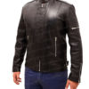 Daft Punk Electroma Hero Robot Rivet Black Leather Jacket right