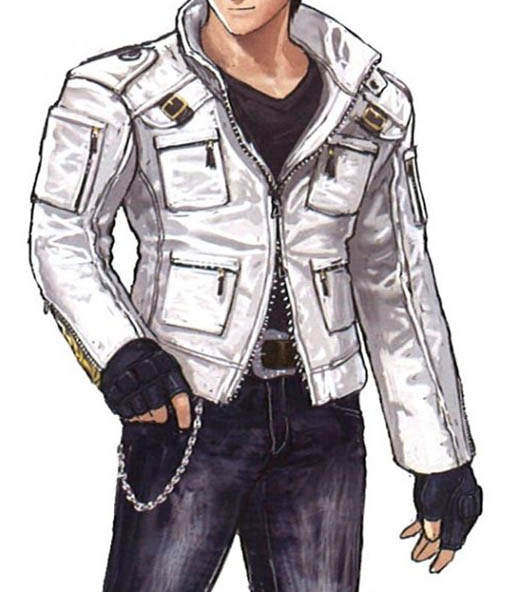Kyo Kusanagi White Leather Jacket In The King Of Fighters