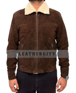The Walking Dead Rick Grimes Suede Fur Jacket