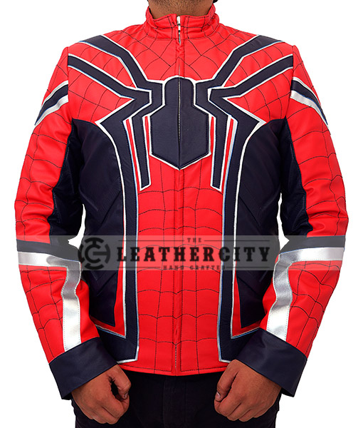 Avengers Infinity War Spiderman Armored Costume Jacket Front