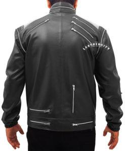Michael Jackson Beat It Leather Jacket - Black