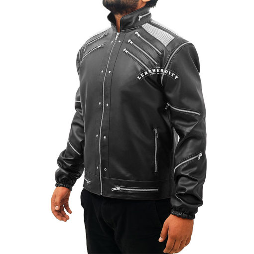 Michael Jackson Beat It Leather Jacket - Black