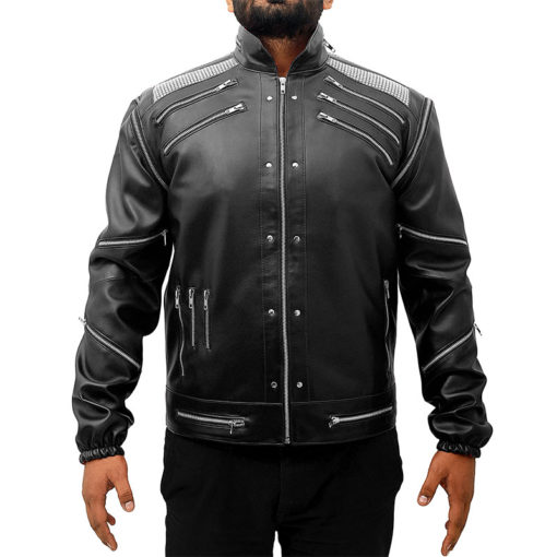 Michael Jackson Beat It Leather Jacket – Black