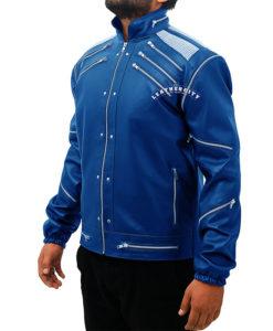 Michael Jackson Beat It Leather Jacket - Blue