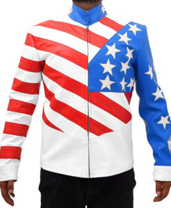 Vanilla Ice's American Flag Leather Jacket