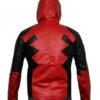 Deadpool Leather Hoodie back