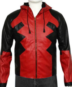 Deadpool Leather Hoodie