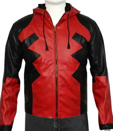 Deadpool Leather Hoodie