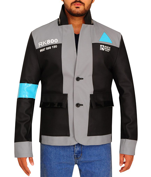 b5c87aab6 Connor's Blazer Jacket Detroit: Become Human in Grey Color