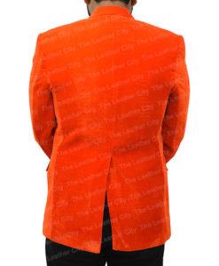 Kingsman's Taron Egerton Orange Tuxedo