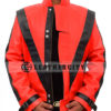 Michael Jackson Thriller Genuine Leather Jacket Front Open
