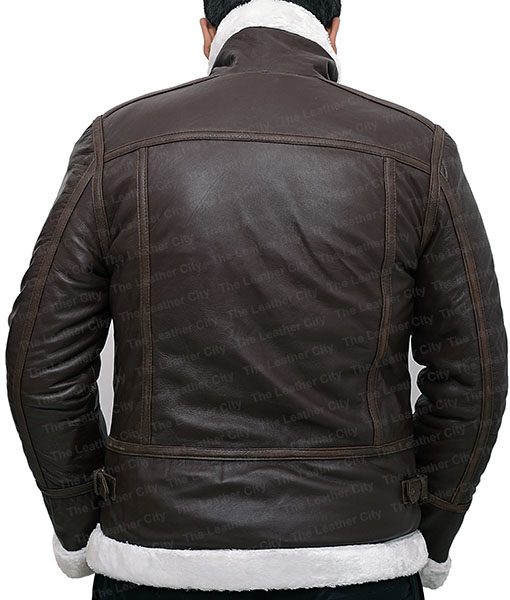 Resident Evil 4 Leon Kennedy Shearling Real Leather Jacket