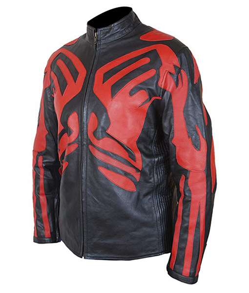 Darth Maul Véritable Veste en cuir noir /& rouge