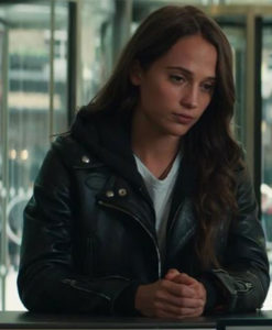 Alicia Vikander Leather Jacket