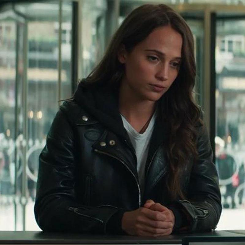 Alicia Vikander Tomb Raider: Tomb Raider's Lara Croft (Alicia Vikander) Motorcycle