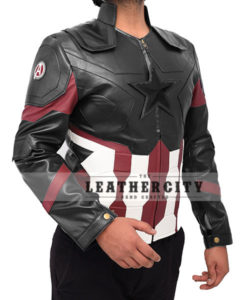 Captain America Infinity War Leather Jacket Right Full