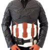 Captain America Infinity War Leather Jacket Front
