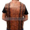 Dundee Crocodile Leather Vest Back