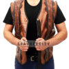Dundee Crocodile Leather Vest Front Open