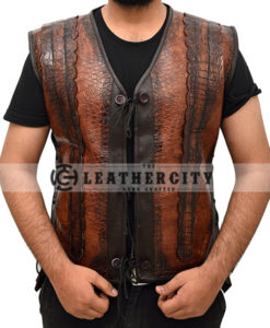 Dundee Crocodile Leather Vest