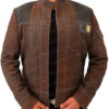 Han Solo Suede Leather Jacket Front