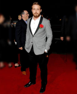 Ryan Gosling Grey Tuxedo