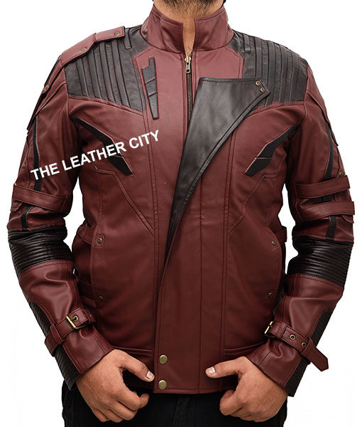 Avengers Infinity War Star Lord Leather Jacket Front