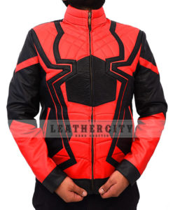 Avengers Infinity War Spiderman Armored Black Costume Jacket