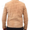 Spectre James Bond Daniel Craig Morocco Brown Suede Leather Jacket BAck