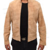 Spectre James Bond Daniel Craig Morocco Brown Suede Leather Jacket Front Open