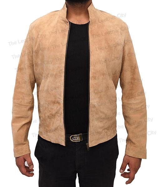 6f7c233b360eb Daniel Craig Spectre Suede Leather Jacket. Home   Celebrity Jackets. Sale! Spectre  James Bond Daniel Craig Morocco Brown Suede Leather Jacket Front