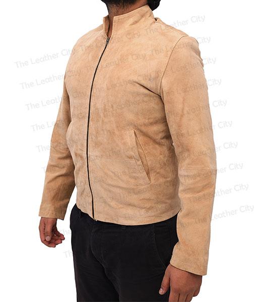 f8b5ac6b19a5a Sale! Spectre James Bond Daniel Craig Morocco Brown Suede Leather Jacket  Front. Spectre James Bond Daniel Craig Morocco ...